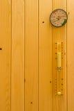 Detalhe da sauna foto de stock