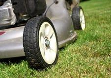 Detalhe da segadeira de gramado Imagem de Stock