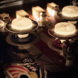 Detalhe da tabela de máquina de pinball Foto de Stock Royalty Free