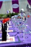 Detalhe da tabela do casamento foto de stock royalty free