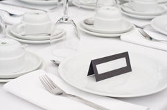 Detalhe da tabela do casamento Imagem de Stock Royalty Free