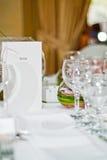 Detalhe da tabela do casamento Imagens de Stock