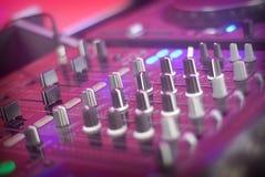 Detalhe da tabela do DJ Imagem de Stock