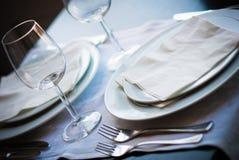Detalhe da tabela do restaurante Imagens de Stock