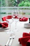 Detalhe da tabela do restaurante Imagem de Stock Royalty Free