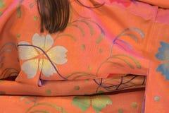 Detalhe da tela do quimono imagem de stock