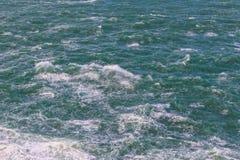 Detalhe da tempestade, fervuras da água Foto de Stock