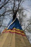 Detalhe da tenda na conserva de natureza da ponte da rocha imagens de stock royalty free