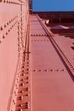 Detalhe da torre da porta dourada foto de stock royalty free