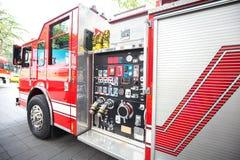 Detalhe da viatura de incêndio imagens de stock