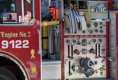 Detalhe da viatura de incêndio Imagens de Stock Royalty Free