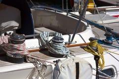 Detalhe das amarrações do barco fotos de stock royalty free
