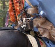 Detalhe das armas do samurai Foto de Stock