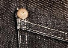 Detalhe das calças de brim Foto de Stock Royalty Free