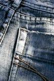 Detalhe das calças de brim Foto de Stock
