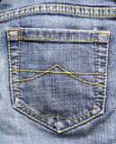 Detalhe das calças de brim Imagem de Stock