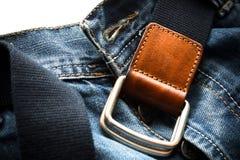Detalhe das calças de brim Imagens de Stock