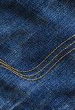 Detalhe das calças de brim Fotos de Stock Royalty Free