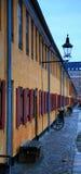 Detalhe das casas de Marín em Copenhaga Fotos de Stock