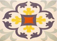 Detalhe das telhas tradicionais da fachada da casa velha Telhas decorativas Telhas tradicionais Valencian Teste padrão 08 Imagens de Stock Royalty Free
