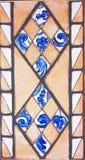 Detalhe das telhas tradicionais da fachada da casa velha Telhas decorativas Telhas tradicionais Valencian Teste padrão 08 Fotos de Stock Royalty Free