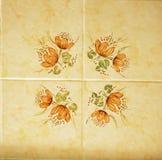 Detalhe das telhas tradicionais da fachada da casa velha Telhas decorativas Telhas tradicionais Valencian Teste padrão 08 Majolic Fotos de Stock