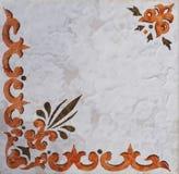 Detalhe das telhas tradicionais da fachada da casa velha Telhas decorativas Telhas tradicionais Valencian Teste padrão 08 Majolic Imagens de Stock
