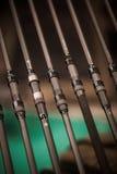 Detalhe das varas de pesca Fotografia de Stock