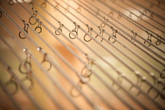 Detalhe das varas de pesca Imagem de Stock