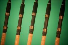 Detalhe das varas de pesca Imagem de Stock Royalty Free