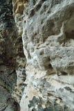 Detalhe de área de turista checa Tiske steny com detalhe de arenito no inverno sem neve Fotografia de Stock