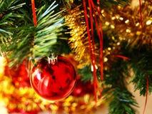 Detalhe de árvore de Natal Imagens de Stock