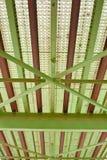 Detalhe de aço da ponte fotografia de stock