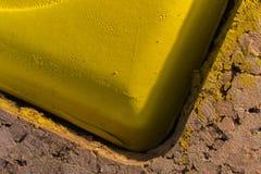 Detalhe de amarelo do godet da pintura da aquarela Fotos de Stock Royalty Free