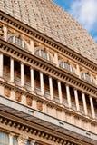 Detalhe de Antonelliana da toupeira, Torino Imagem de Stock