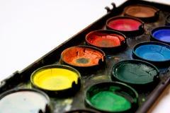Detalhe de aquarelas no fundo branco Imagem de Stock Royalty Free