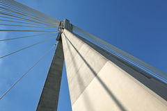 Detalhe de arquitetura moderna da ponte. Fotografia de Stock Royalty Free