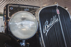 Detalhe de automóvel do período de Fiat em Militalia em Milão, Itália Imagem de Stock