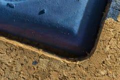Detalhe de azul do godet da pintura da aquarela Fotos de Stock