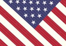Detalhe de bandeira dos EUA Imagens de Stock