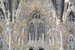 Detalhe de basílica e igreja expiatória da família santamente Fotos de Stock Royalty Free