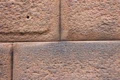 Detalhe de bloco de Inca Ashlar Wall Precise Stone que articula, Cusco do close-up, Peru foto de stock royalty free