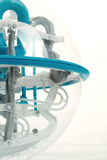 Detalhe de bola do labirinto do jogo 3D Imagens de Stock Royalty Free
