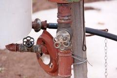 Detalhe de bomba de água imagens de stock royalty free