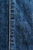 Detalhe de brim azul Imagens de Stock Royalty Free