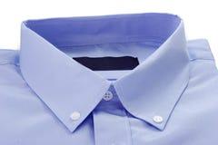 Detalhe de camisa azul Fotos de Stock Royalty Free