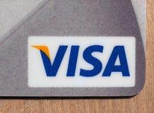 Detalhe de cartão de crédito do VISTO Fotografia de Stock