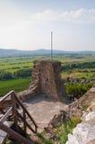 Detalhe de castelo de Szigliget com panorama Fotografia de Stock Royalty Free