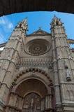 Detalhe de catedral de Mallorca, em Palma de Mallorca, Espanha Fotos de Stock