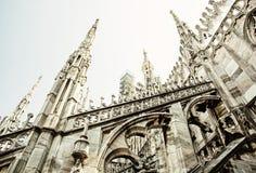 Detalhe de catedral de Milão - di Milão do domo, Itália, AR religiosa Imagem de Stock